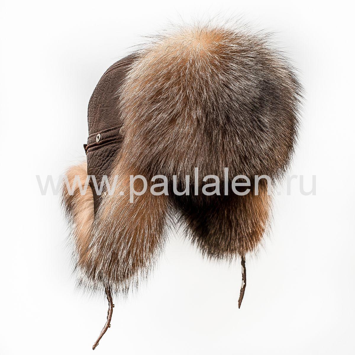 Мужская шапка-ушанка (Пилот) из меха Блюфрост B001_O