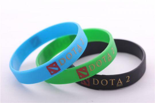 Цветные силиконовые браслеты Dota 2