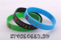 Купить цветной силиконовый браслет Dota 2