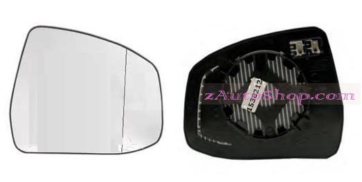 FORD FOCUS II (DA) 01.08 - 12.10 :Стекло зеркала внешнего левое (с подогр., стекло асферическое)