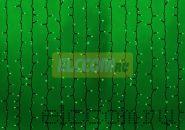 """Гирлянда """"Светодиодный Дождь"""" 2х1,5м, постоянное свечение, темно-зеленый провод, 220В, диоды ЗЕЛЁНЫЕ, NEON-NIGHT"""