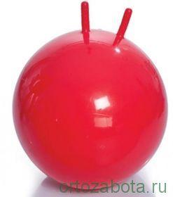Мяч для ЛФК (с рожками, с насосом, 55см, красный) М-355