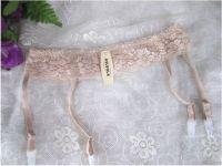 Пояс с подвязками для чулок телесного и белого цвета, Asluola
