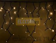 "Гирлянда АЙСИКЛ (бахрома), 3,2х0,9м, черный провод ""КАУЧУК"" IP54, 120 прозрачных ламп NEON-NIGHT"