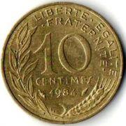 10 сентим. Франция. 1984 год.
