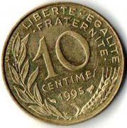 10 сентим. Франция. 1995 год.
