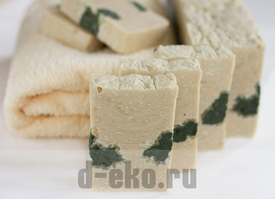 Натуральное мыло ручной работы Сера и цинк