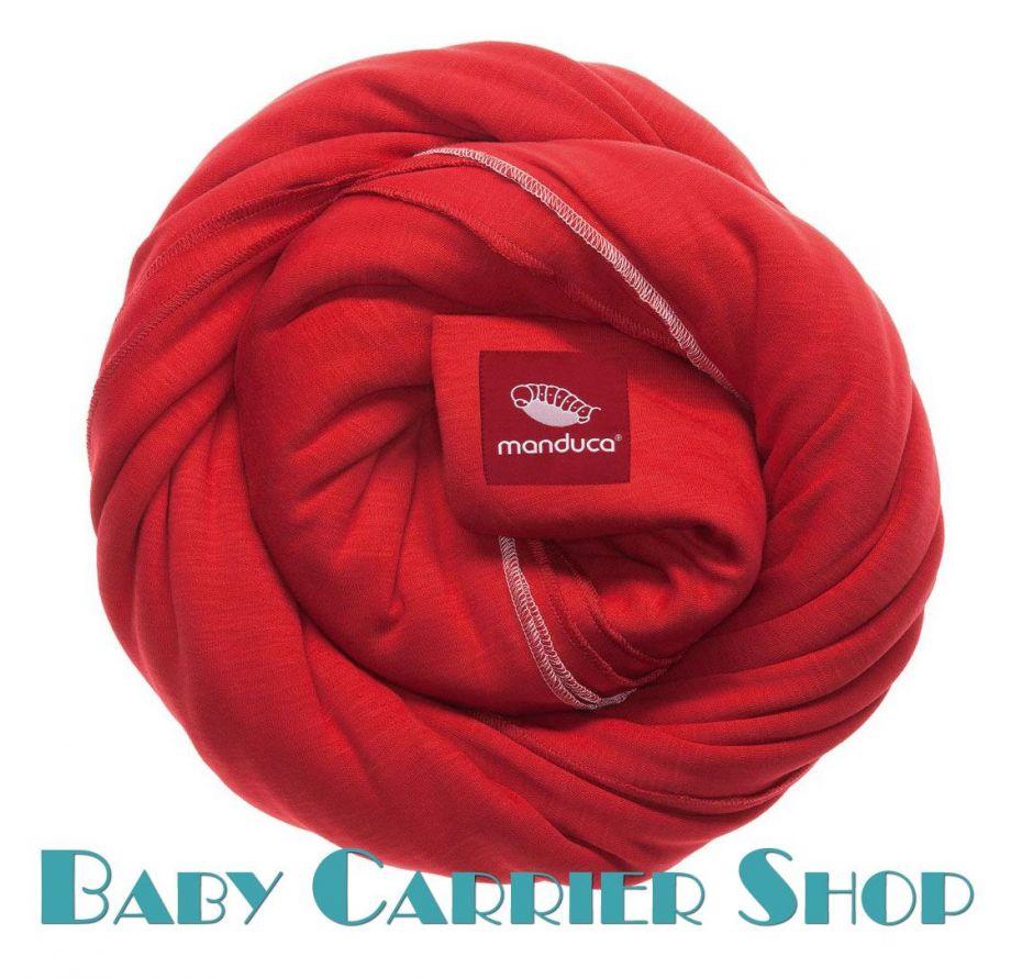 Трикотажный слинг-шарф для новорожденного MANDUCA Sling Chili [Мандука, органический хлопок, Чили]