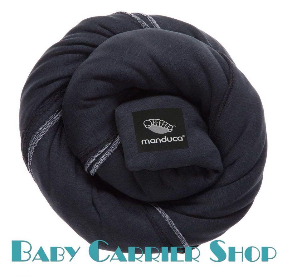 Трикотажный слинг-шарф для новорожденного MANDUCA Sling Black [Мандука, органический хлопок, Черный]