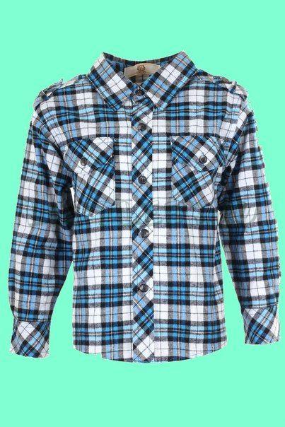 Рубашка в клетку для мальчиков