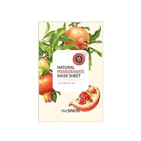 The saem Natural Pomegranate Mask Sheet - Маска тканевая с экстрактом граната