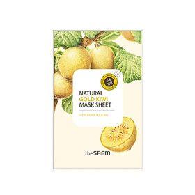 The saem Natural Gold Kiwi Mask Sheet 21ml - Маска тканевая с экстрактом киви