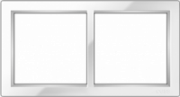"Двухпостовая рамка белая CGSS ""Практика"" PL-P102-WCG"