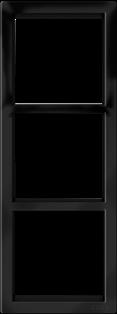 "Трехпостовая вертикальная рамка черная матовая CGSS ""Практика"" PL-VP103-BCM"