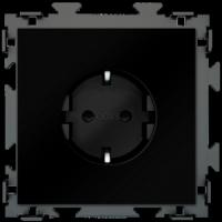 """Розетка электрическая черная с заземлением 16 A  CGSS """"Практика""""PL-W160A-BCM"""