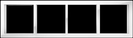 "Четырехпостовая рамка белая CGSS ""Практика"" PL-P104-WCG"