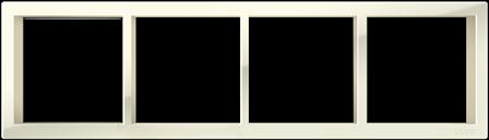 """Четырехпостовая рамка бежевая CGSS """"Практика"""" PL-P104-BGG"""
