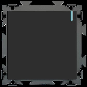 """Одноклавишный выключатель черный матовый """"Практика"""" CGSS  PL-W101-BCM"""
