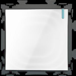 """Одноклавишный переключатель белый проходной """"Практика"""" CGSS  PL-W101-PWCG"""