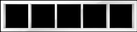 "Пятипостовая рамка белая CGSS ""Практика"" PL-P105-WCG"