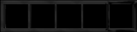 """Пятипостовая рамка черная матовая CGSS """"Практика"""" PL-P105-BCM"""