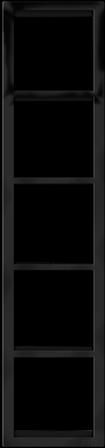 "Пятипостовая рамка вертикальная черная матовая CGSS ""Практика"" PL-VP105-BCM"