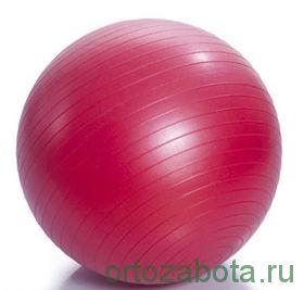 Мяч для ЛФК (ABC, с насосом, 65см, красный) М-265