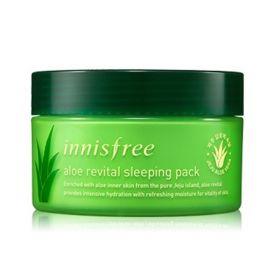INNISFREE ALOE REVITAL SLEEPING PACK 100 ml - ночная маска для лица с мякотью Алоэ Вера 78%.