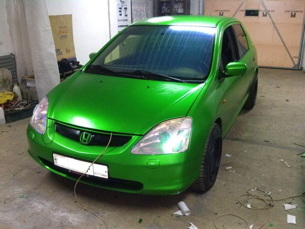 Хром Матовый Зеленый