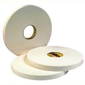 Скотч 3М. Двусторонняя лента, белая.  Толщина 0,8 мм. 9508W 19ммх66м
