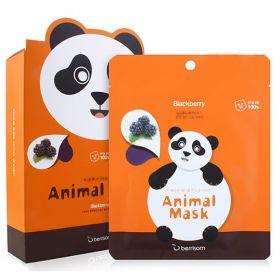 Berrisom animal mask blackberry PANDA - Маска тканевая с экстрактом ежевики