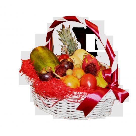 Фруктовая корзина Экзотические яства(Видов фруктов:12)