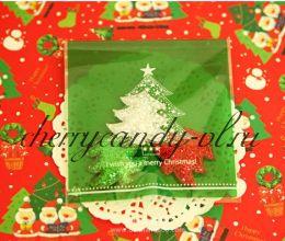 Пакеты прозрачные Merry Christmas, 10 шт, 3 вида.
