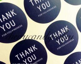 Наклейка стикер для упаковки Thank you,  12 наклеек