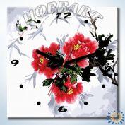 Часы картина по номерам Время цвести