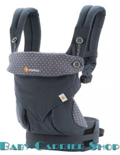 """Слинг-рюкзак ERGO BABY CARRIER Эргорюкзак для переноски малышей «Dusty Blue Four Position 360» [Эрго Беби BC360ABLU слингорюкзак """"лицом к миру"""" 360-Оранжевый Горошек]"""