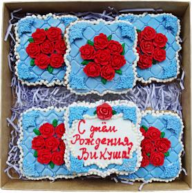 """Сладкие подарки на день рождения Наборы пряников """"Миллион алых роз"""""""