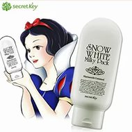 SECRET KEY SNOW WHITE MILKY PACK 200ml - отбеливающая маска для лица и тела