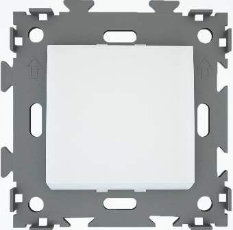 Выключатель одноклавишный белый  CGSS W101 WC