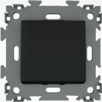 Переключатель проходной одноклавишный черный  CGSS W101 PBC