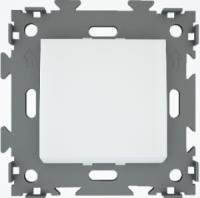 Переключатель проходной одноклавишный белый  CGSS W101 PWC