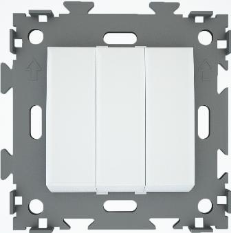 Выключатель трехклавишный белый  CGSS W103 WC