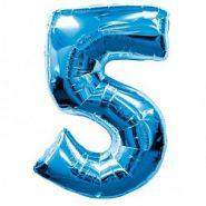 """Фигура """"5""""  (40""""/102 см) синий"""