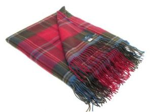Легкий плед, 100 % стопроцентная шотландская овечья шерсть, расцветка клана Маклин замка Дуарт