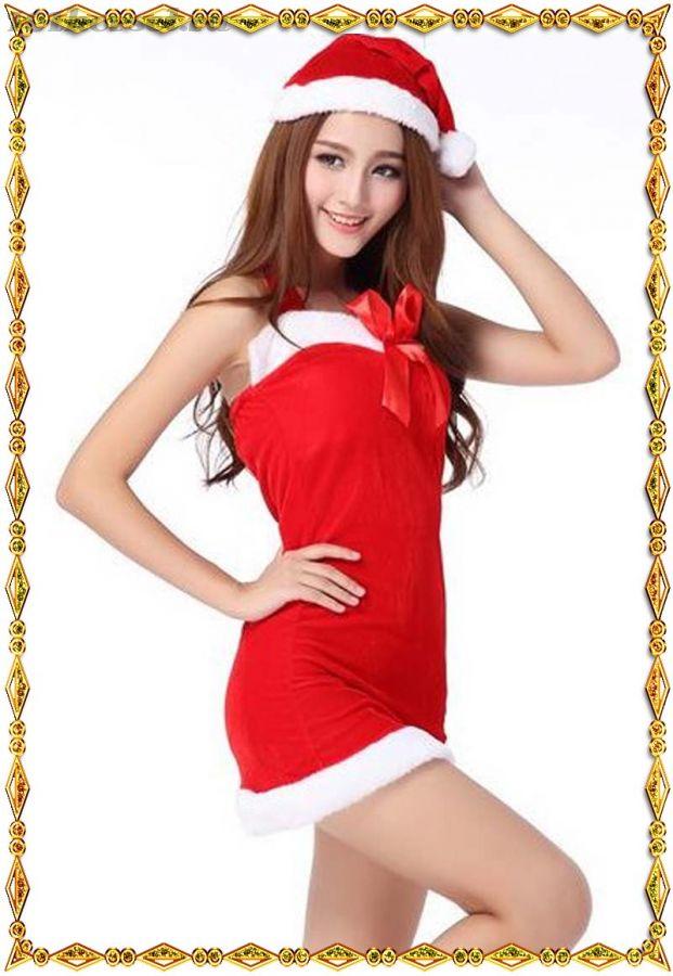 Рождественское сексуальное платье