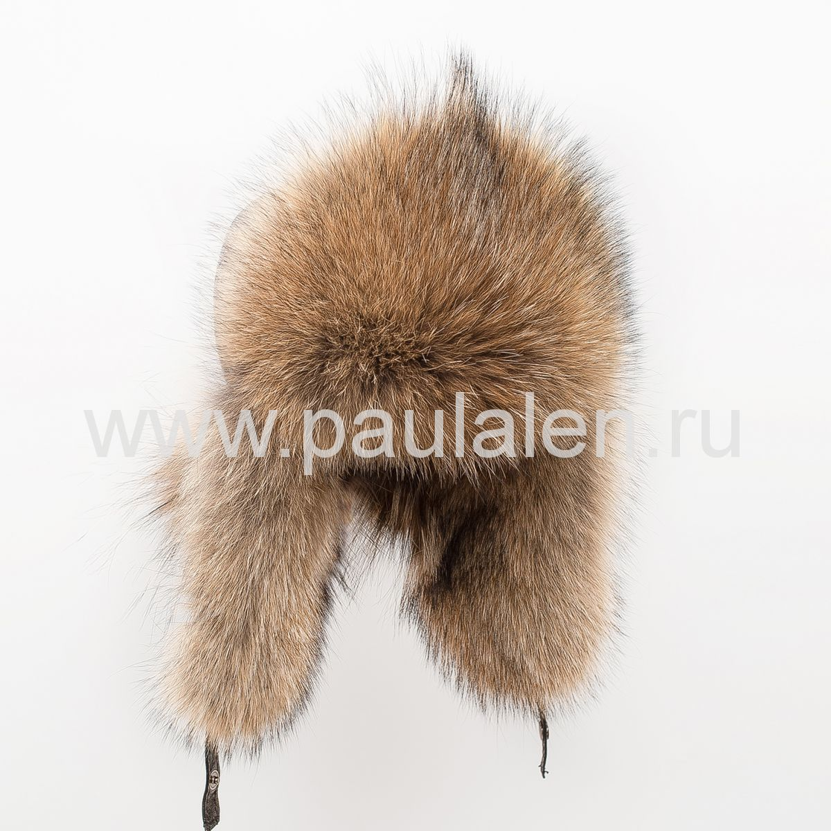 Меховая женская шапка ушанка из меха Волчицы A015
