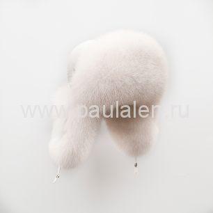 Меховая женская шапка ушанка из меха песца A019