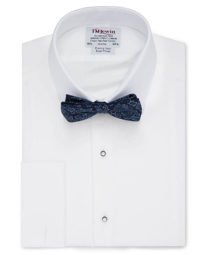 3d5f1513a85ac1d Мужская рубашка под бабочку, под смокинг белая T.M.Lewin сильно приталенная  Super Fitted