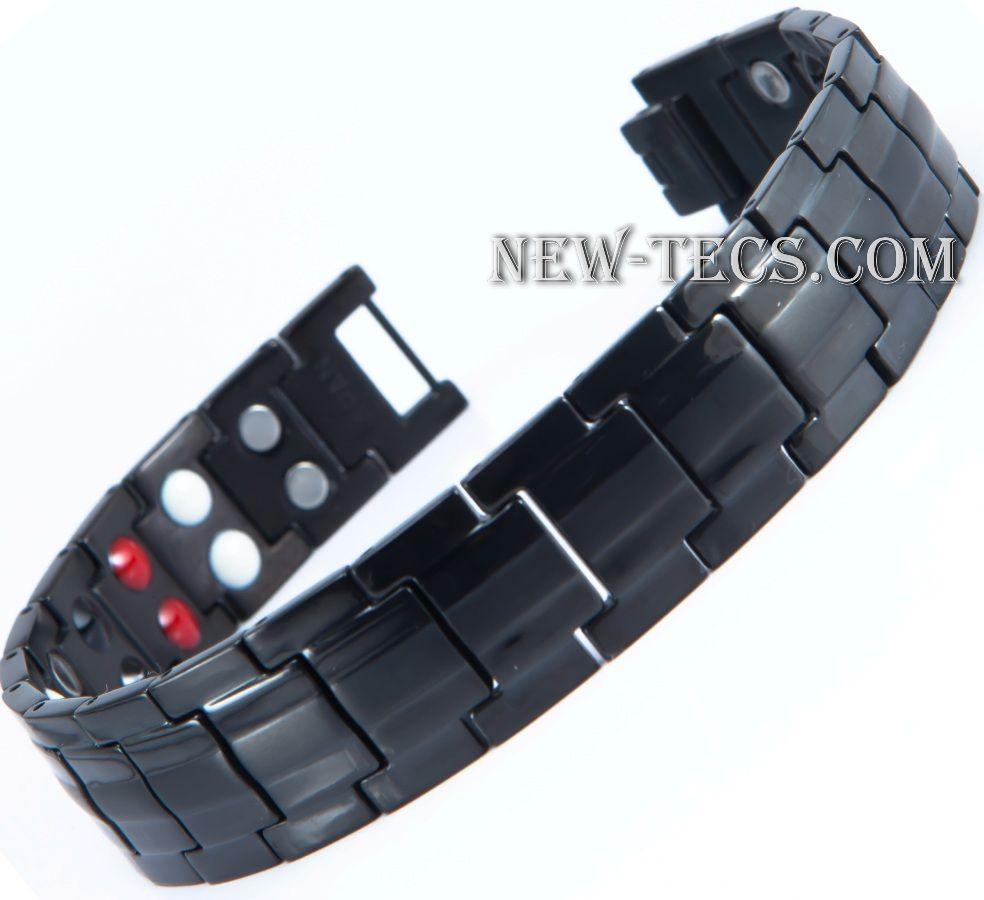 Титановый магнитный браслет TY-001NT-Mj-black