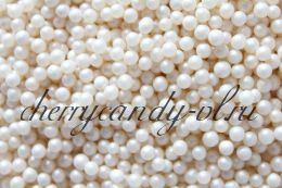 Посыпка шарики белые перламутровые (1,9 мм)
